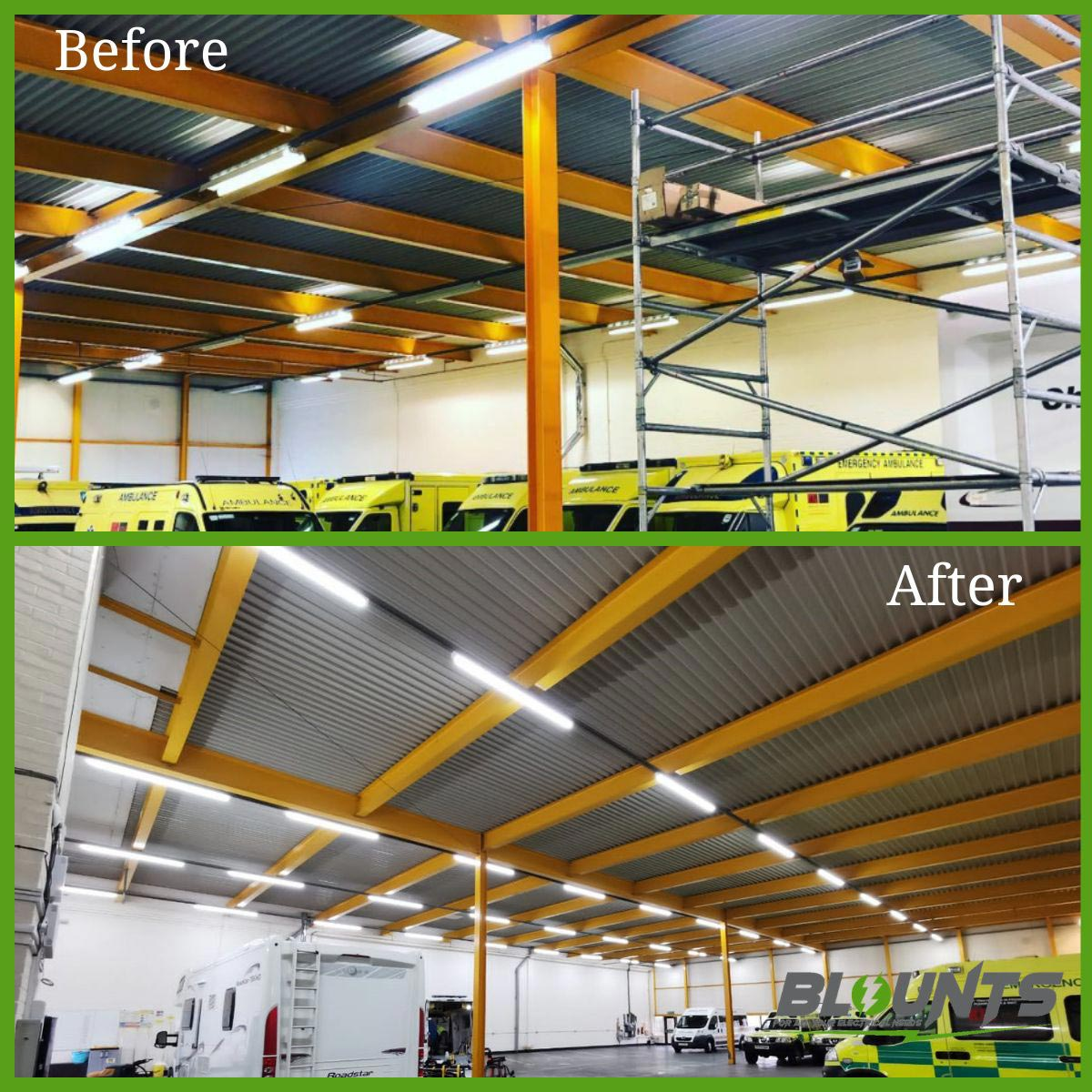 LED warehouse upgrade