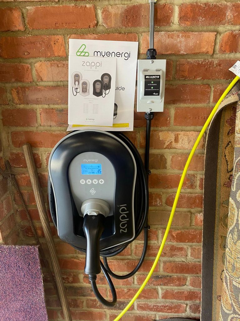 Thorney electric car charger installation